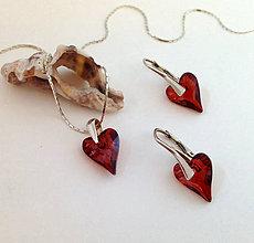Sady šperkov - Swarovski srdiečka - 6760540_