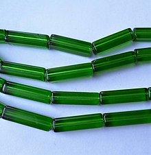 Korálky - Skl.kváder 20x5,5mm-zelená-1ks - 6761030_
