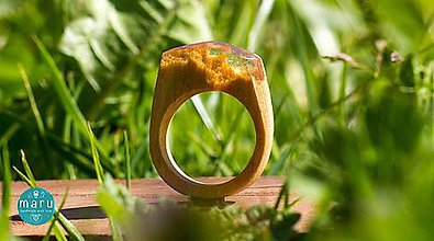 Prstene - Drevená živica :) - 6760530_