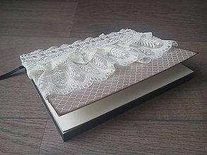 Papiernictvo - Čipkovaný zápisník I. - 6758584_