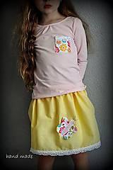 Detské oblečenie - suknička motýlik, 140 - 6759522_