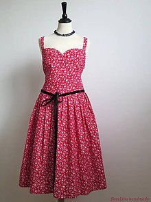 Šaty - červené letné šaty - 6757962_