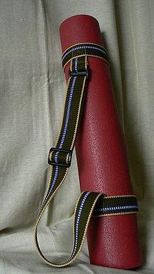 Iné tašky - popruh na jogamatku - olivový - 6758222_