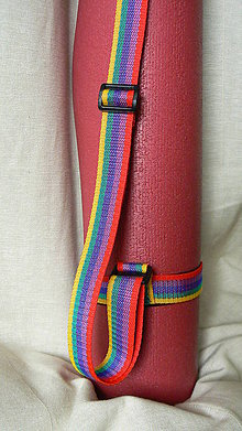 Iné tašky - popruh na jogamatku - dúhový - 6758326_