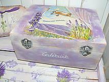Spomienková krabička s levandulkami :)