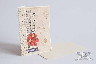 Papiernictvo - Pohľadnica - You & Me / na zákazku - 6760829_