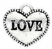 Komponenty - Prívesok srdiečko LOVE - 6760573_