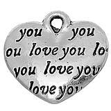 Komponenty - Prívesok srdiečko LOVE YOU - 6760602_