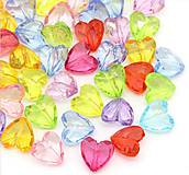 Korálky - Plastové korálky srdiečka (balíček 10ks) - 6760634_