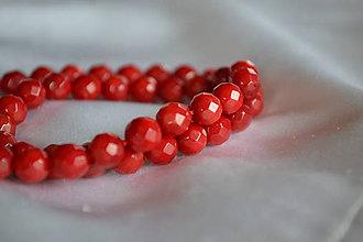 Minerály - Červený koral fazetovaný 7mm, 0.28€/ks - 6758975_