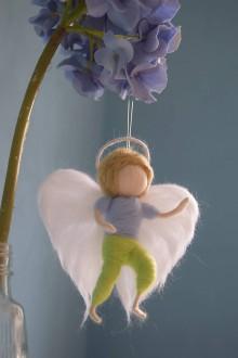 Dekorácie - Anjelik chlapček - 6761196_