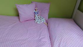 Obliečky do postele ružové bodky