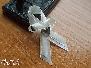 Pierka - svadobné pierko maslovoBiele - 6761231_