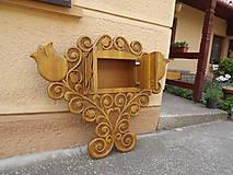 Nábytok - Dekorácia so vstavanou skrinkou s motívom tulipánov - 6761712_