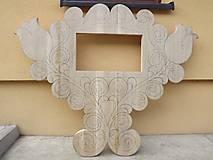 Nábytok - Dekorácia so vstavanou skrinkou s motívom tulipánov - 6761733_
