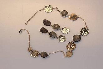 Sady šperkov - Stříbrná souprava Harmony - křišťál s rutilem - 6762845_