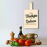 Tabuľka Naša kuchyňa je srdcom nášho domova