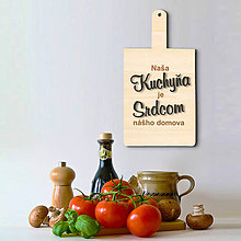 Dekorácie - Tabuľka Naša kuchyňa je srdcom nášho domova - 6761597_