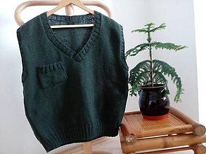 Oblečenie - Pánska pletená vesta zníženie ceny z 27 na 22 eur - 6762734_