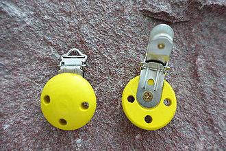 Komponenty - Drevené zapínanie žlté - 6764272_