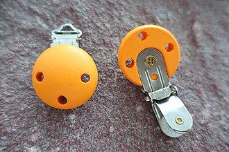 Komponenty - Drevené zapínanie oranžové - 6764276_