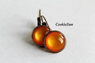 Náušnice - Glamour Orange (Náušnice 12mm) - 6763287_