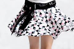 Detské oblečenie - Letná sukňa -točivá TRIANGLE PINK - 6763323_