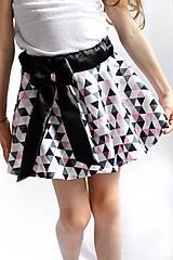 Detské oblečenie - Letná sukňa -točivá TRIANGLE PINK - 6763324_