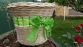 Košíky - Košík s mašličkou - 6762414_