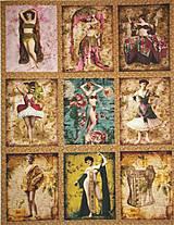 Textil - BAVLNĚNÝ PANEL - VELKÁ SADA 28 x 36 cm VBG3 - 6764385_