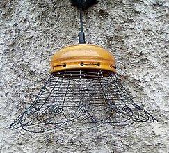Svietidlá a sviečky - Lustr - drát a keramika - 6766052_