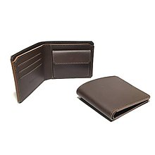 Tašky - Pánska kožená peňaženka (hnedá) - 6765177_