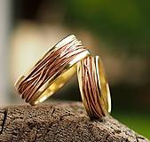 Prstene - Prepletené cesty osudu /žlto-červené/ - 6765703_
