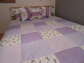 Úžitkový textil - prehoz na posteľ  160x200 cm levanduľa - 6766010_