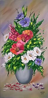 Obrazy - Romantické kvety - 6765937_