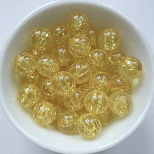Korálky - KRAKL-8mm-žltá-10ks - 6767255_