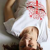 Tričká - Lady folk (tričko klasik biele) - 6764424_