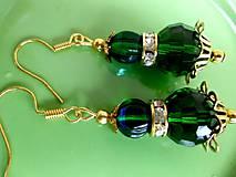 zeleno - zlaté náušnice