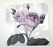 Papier - Servítka V9-  Ruže vintage - 6767666_