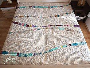 Úžitkový textil - modern quilt na manželskú postel - 6764540_