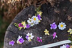Ozdoby do vlasov - Kvetinový štvrťvenček... výpredaj z 20 € - 6765434_