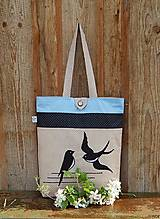 - Nákupná taška - lastovičky - 6766429_
