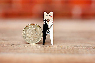 Dekorácie - Mini štipce svadobné - 6767665_