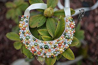 Náhrdelníky - Perličky jarné pohladenie farieb - 6766701_
