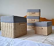 Košíky - Súprava košíkov KATY/set - 6765323_