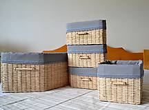 Košíky - Súprava košíkov KATY/set - 6765331_