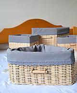 Košíky - Súprava košíkov KATY/set - 6765332_