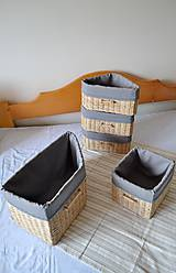 Košíky - Súprava košíkov KATY/set - 6765334_