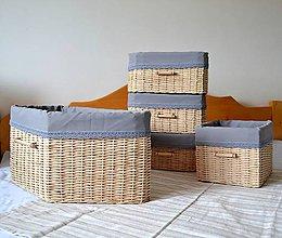 Košíky - Súprava košíkov KATY/set - 6765324_