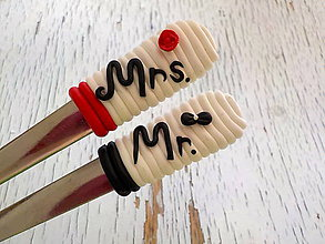 Pomôcky - svadobné lyžičky-cena za 2 kusy - 6766365_